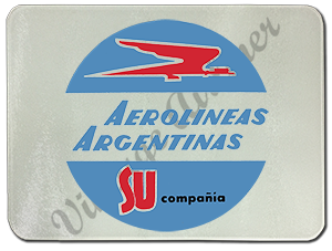 Aerolineas Argentinas Logo Glass Cutting Board