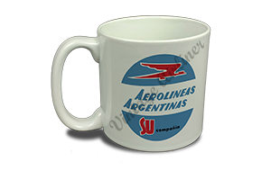 Aerolineas Argentinas 1960's Vintage Bag Sticker 20 oz. Coffee Mug