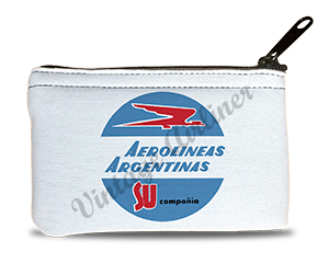 Aerolineas Agentinas 1960's Vintage Bag Sticker Rectangular Coin Purse