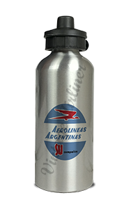Aerolineas Argentinas 1960's Bag Sticker Aluminum Water Bottle