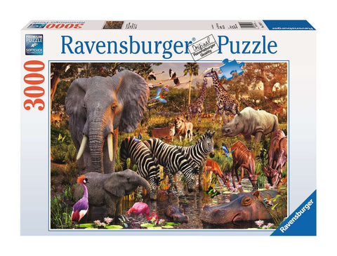 African Animal World Puzzle (3,000 pieces) by Ravensburger