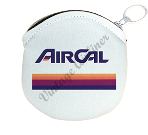 Air Cal Logo Round Coin Purse