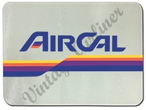 Air Cal Vintage Logo Glass Cutting Board