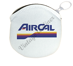 Air Cal Last Logo Round Coin Purse