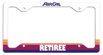 Air Cal Retiree - License Plate Frame