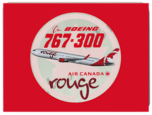 Air Canada Rouge Bag Sticker Glass Cutting Board