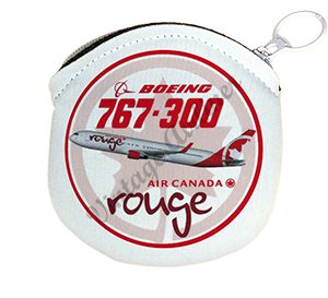 Air Canada Rouge Bag Sticker Round Coin Purse