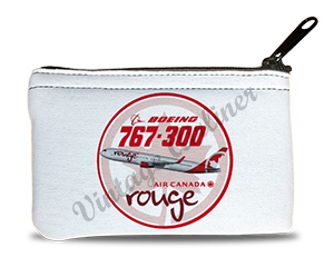 Air Canada Rouge Bag Sticker Rectangular Coin Purse