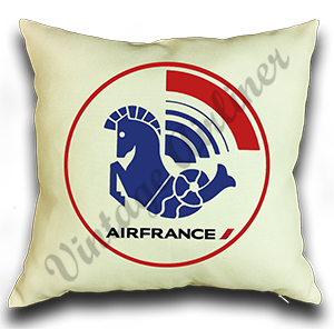 Air France 1976 Logo Linen Pillow Case Cover