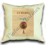 Air France Europe Cover Linen Pillow Case Cover
