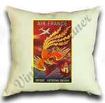 Air France Orient Cover Linen Pillow Case Cover