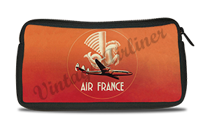 Air France 1950's Vintage Bag Sticker Travel Pouch