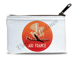 Air France 1950's Vintage Bag Sticker Rectangular Coin Purse