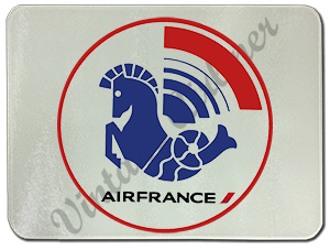 Air France 1976 Logo Glass Cutting Board