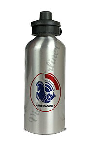 Air France 1960's Vintage Big Sticker Aluminum Water Bottle
