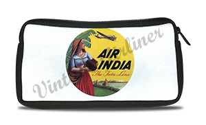 Air India Vintage Bag Sticker Travel Pouch