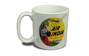 Air India Vintage Bag Sticker 20 oz. Coffee Mug