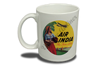 Air India Vintage Bag Sticker 11 oz. Coffee Mug