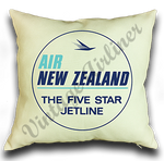 Air New Zealand Vintage Bag Sticker Linen Pillow Case Cover