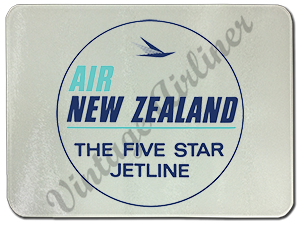 Air New Zealand Vintage Bag Sticker Glass Cutting Board