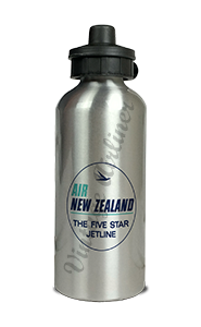 Air New Zealand Vintage Bag Sticker Aluminum Water Bottle