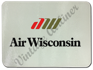 Air Wisconsin Logo Glass Cutting Board