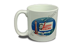 Alaska Airlines 1950's Vintage Bag Sticker 20 oz. Coffee Mug