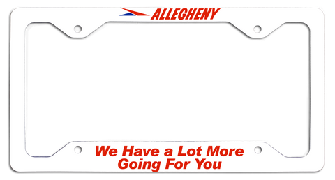 Allegheny Airlines A Lot More Going for You License Plate Frame