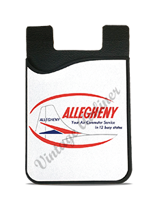 Allegheny Airlines Vintage Bag Sticker Card Caddy