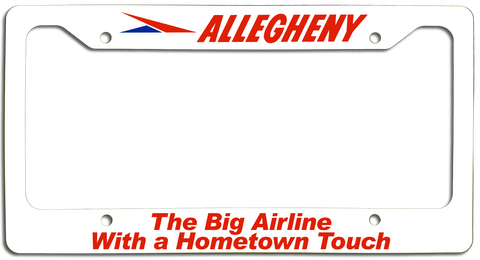 Allegheny Airlines Hometown Touch License Plate Frame