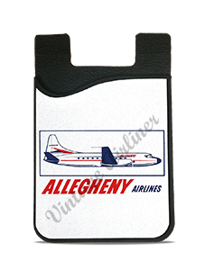 Allegheny Airlines 1960's Vintage Bag Sticker Card Caddy