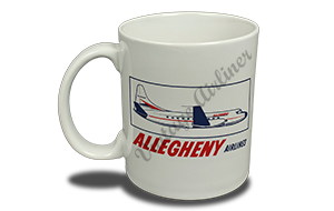Allegheny Airlines 1960's Vintage Bag Sticker 11 oz. Coffee Mug