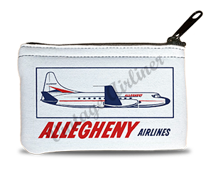 Allegheny Airlines 1960's Vintage Bag Sticker Rectangular Coin Purse