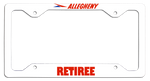 Allegheny Airlines Retiree License Plate Frame