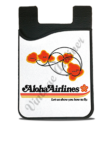 Aloha Airlines Logo and Route Map Card Caddy