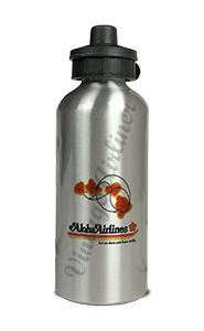 Aloha Airlines Bag Sticker Aluminum Water Bottle