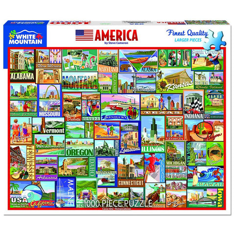 America Puzzle by White Mountain - (1,000 pieces)