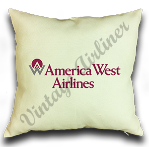 America West Airlines Original Logo Linen Pillow Case Cover