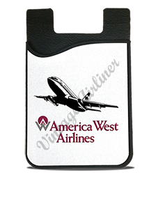 America West 737 Logo Card Caddy