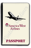 America West 737 Logo Passport Case