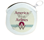America West First Logo Round Coin Purse