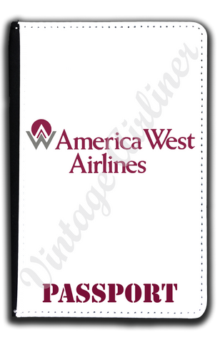 America West First Logo Passport Case
