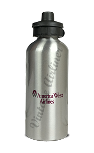 America West Airlines 737 Logo Bag Sticker Aluminum Water Bottle