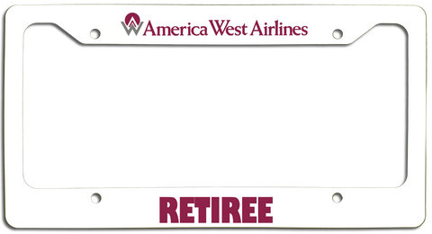 America West Airlines Retiree License Plate Frame