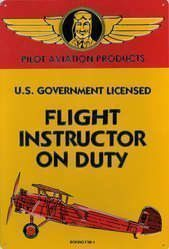 Flight Instructor Sign