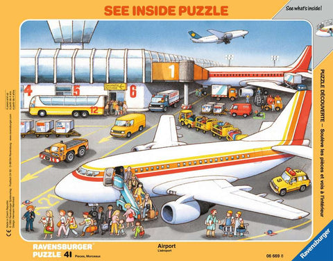 At The Airport Puzzle - Frame (41 pieces) by Ravensburger