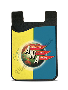 Australian National Airways 1950's Vintage Bag Sticker Card Caddy
