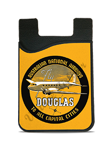 Australian National Airways 1930's Vintage Bag Sticker Card Caddy