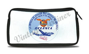 Avianca 1950's Vintage Bag Sticker Travel Pouch