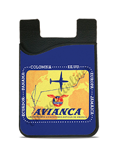 Avianca 1940's Vintage Bag Sticker Card Caddy